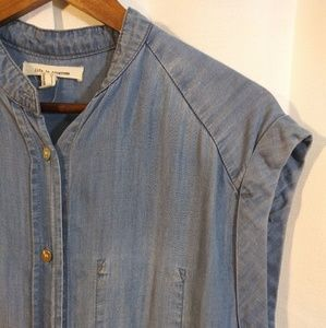 Forever 21 Tops - Life in Progress blue jean/chambray top